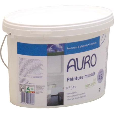 Peinture naturelle murale blanche auro 321 sans substances for Bonne peinture pour plafond