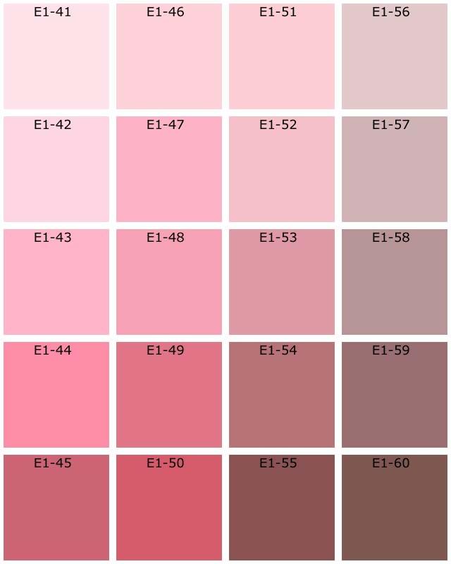 Nuancier de couleur peinture pau 3933 - Nuancier rose poudre ...