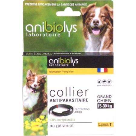 Collier antiparasitaire pour un grand chien 15 30kg anibiolys - Anti puce chien maison ...