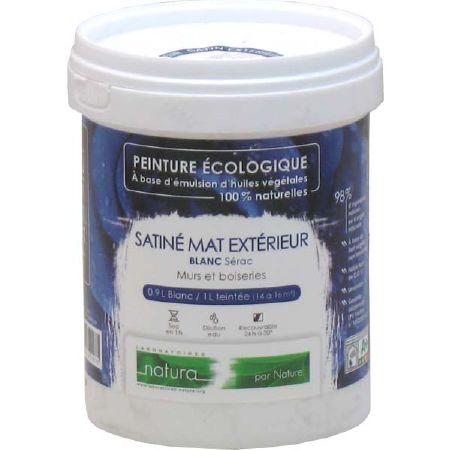 Peinture naturelle satin e blanche ext rieur tassili for Peinture blanche exterieur bois