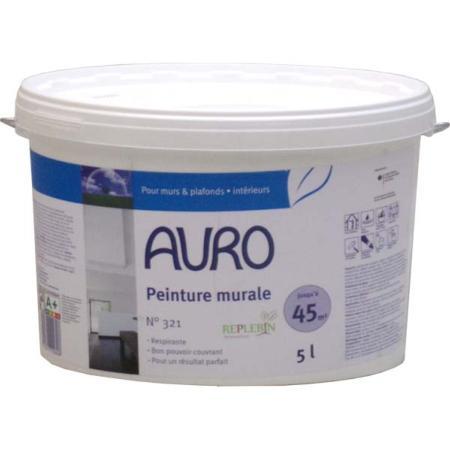 Peinture naturelle murale blanche auro 321 sans substances chimiques nocives for Peinture murale blanche