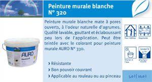 Peintures Bio Auro 320auro 321auro 322 Fiche Technique Dinformation