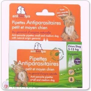 Pipettes antiparasitaires Petit Moyen Chien AniBioLys