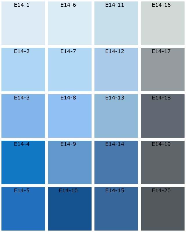 Nuanciers tassili natura les bleus - Nuancier de bleu peinture ...