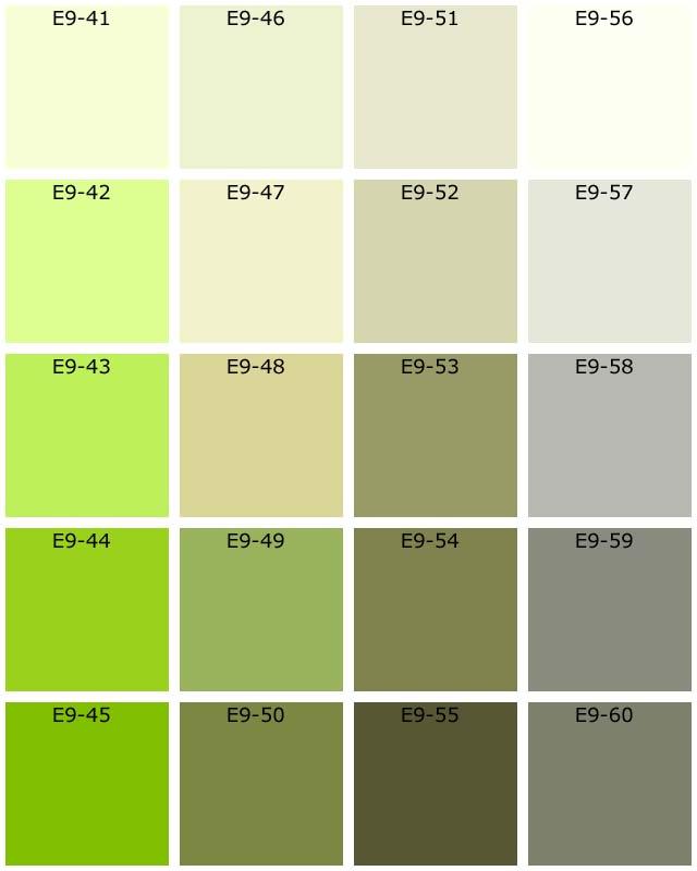 Nuanciers tassili natura les verts - Nuancier de couleur gratuit ...