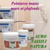 Peintures naturelles de finition mate